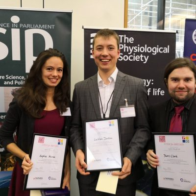 CDT student wins competition at UK Parliament for research communications