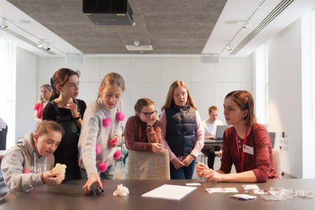 Children with heart conditions visit the Science Gallery London to hear about our cardiac surgery-related research