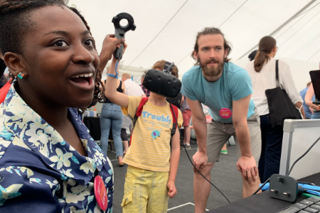 CDT students demonstrate the potential of VR in surgical planning at the Great Exhibition Road Festival 2019