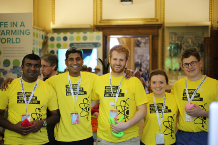 CDT staff and students explain the use of radioactivity to diagnose and treat cancer at the Royal Society Summer Exhibition 2018