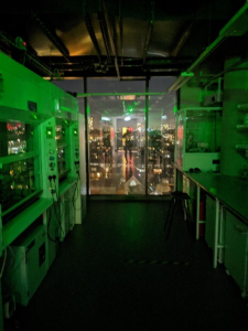 Laboratory in the evening
